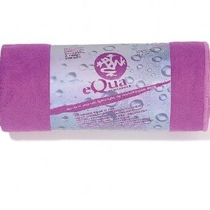 Manduka eQua Large Yoga Towel In Purple Pansy